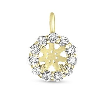 Diamond Halo Pendant for 1/2ct round