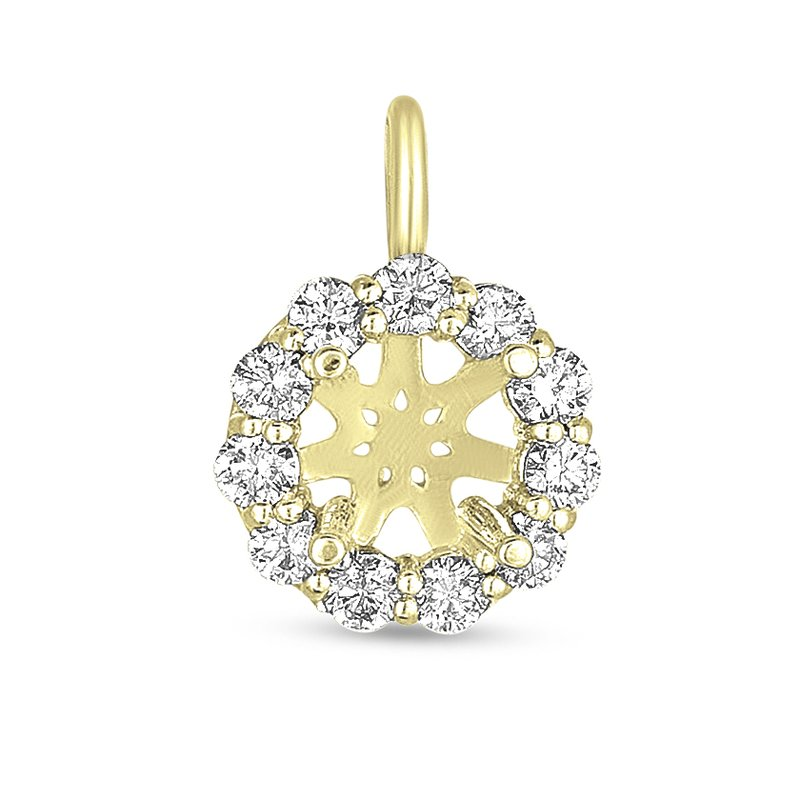 S. Kashi  & Sons Diamond Halo Pendant for 1/2ct round