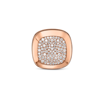 18Kt Gold Small Ring With Diamonds