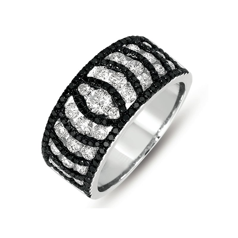 Briana White Gold Black & White Diamond Ring