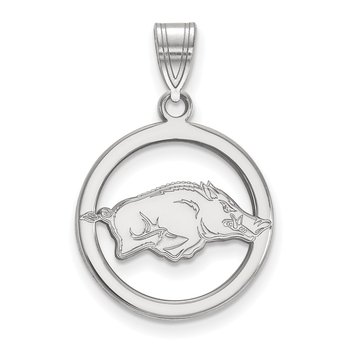 Sterling Silver University of Arkansas NCAA Pendant