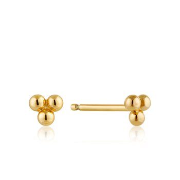 Modern Triple Ball Stud Earrings