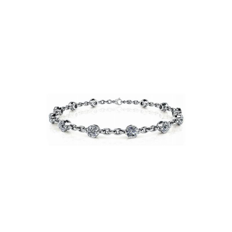 S. Kashi  & Sons White Gold Diamond Tennis Bracelet