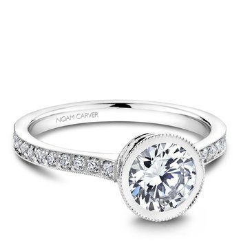 Noam Carver Vintage Engagement Ring B025-02A