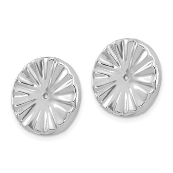 14k White Gold Fancy Earring Jackets