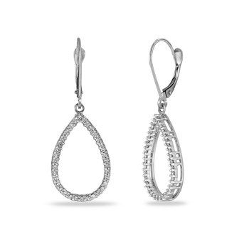 14K WG Diamond Pear Shape Earring
