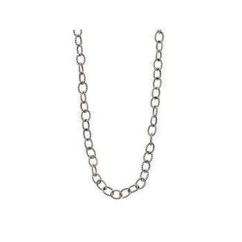 Twisted Link Chain- Silver