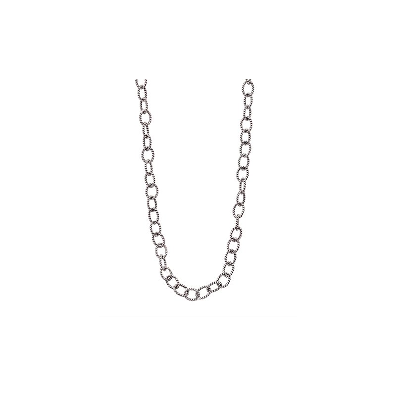 Waxing Poetic Twisted Link Chain- Silver