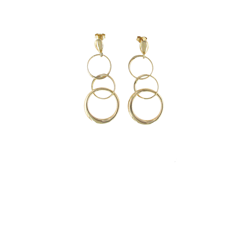 Roberto Coin 18Kt Gold 3 Circle Earrings