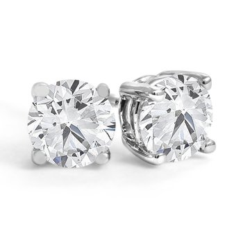 Four-Prong Diamond Stud Earrings