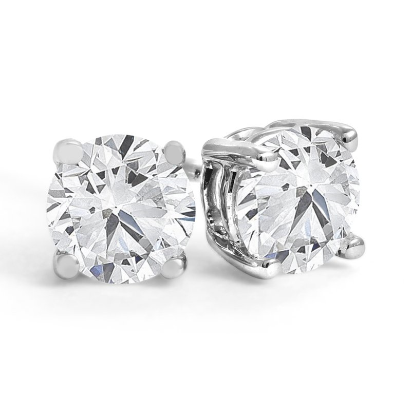 Canadian Rocks Four-Prong Diamond Stud Earrings