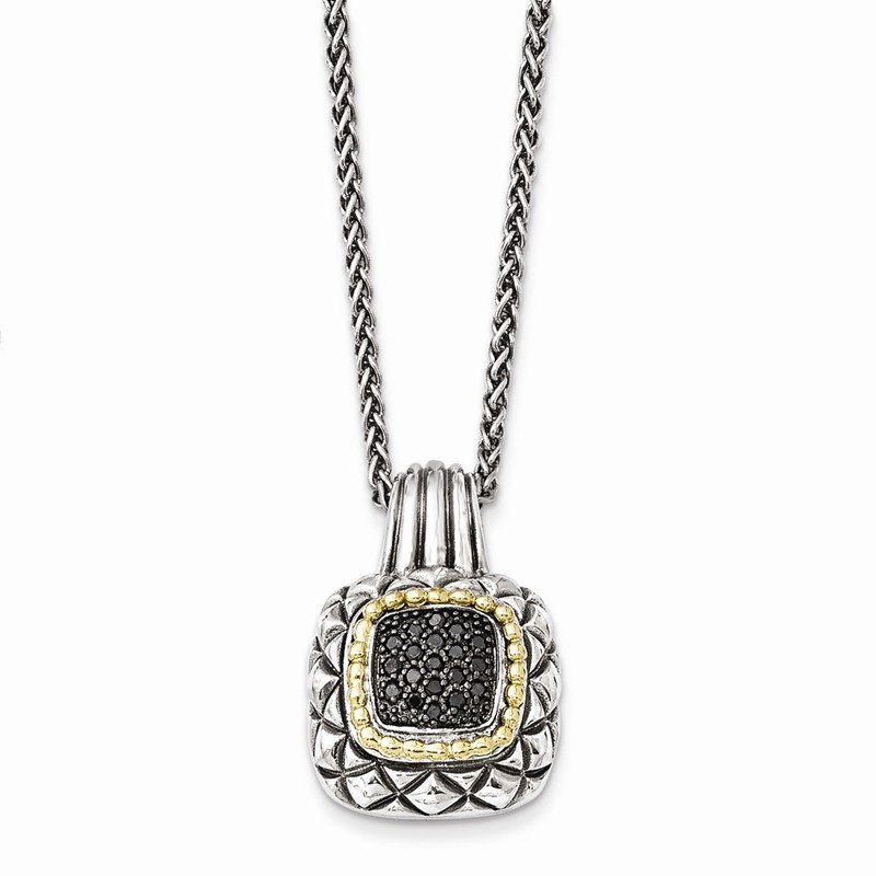 Shey Couture Sterling Silver w/14k Black Diamond Necklace