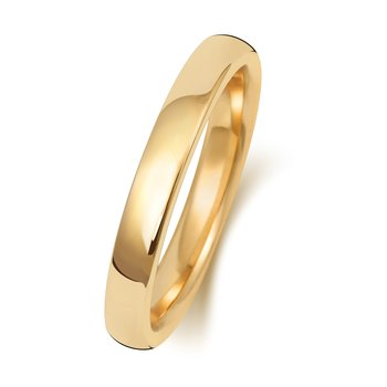 9Ct Yellow Gold 2.5mm Soft Court Wedding Ring