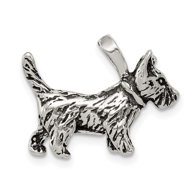 J.F. Kruse Signature Collection Sterling Silver Antiqued Dog Charm
