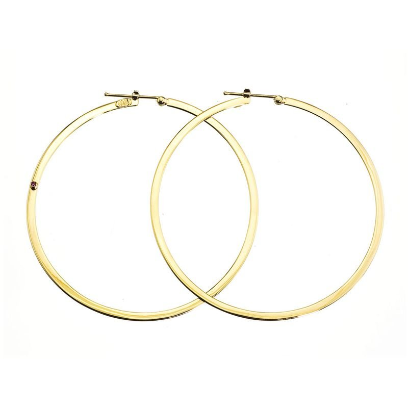 Roberto Coin 18Kt Gold Xl Flat Round Hoop Earrings