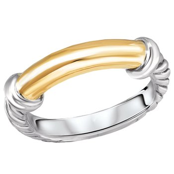 Ladies Fashion Two-Tone  Ring