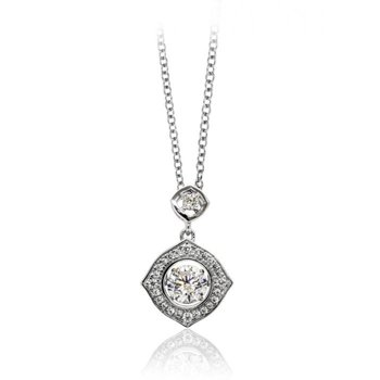 Diamond-shaped Shimmering Stone Pendant