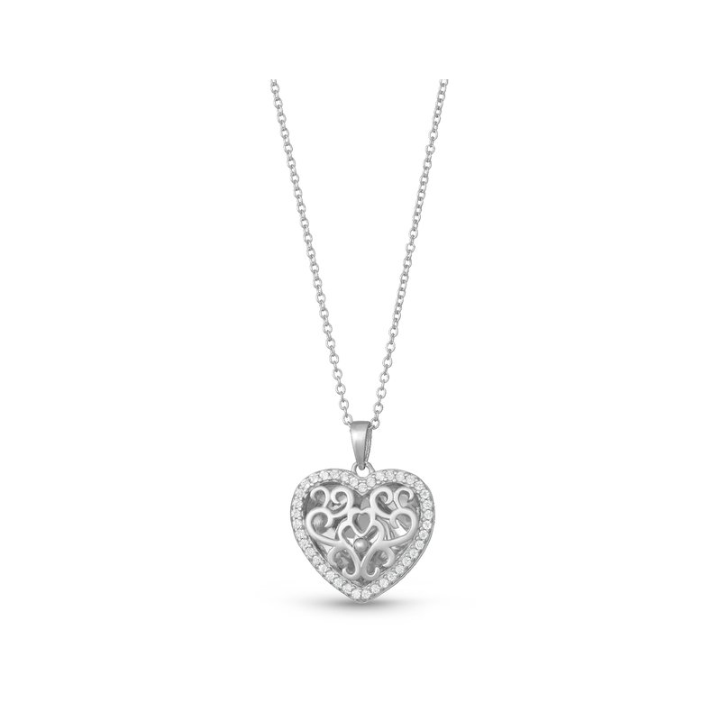 With You Lockets Mary Locket Necklace Silver