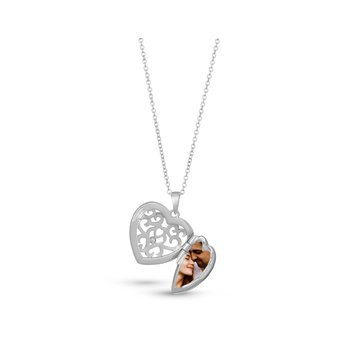 Mary Locket Necklace Silver