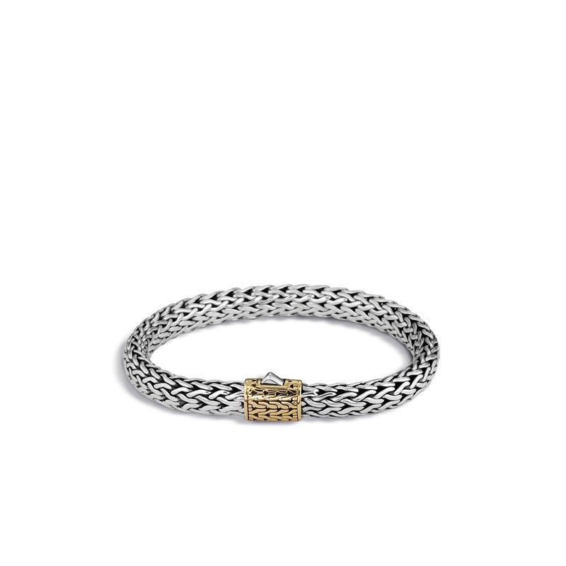 JOHN HARDY Classic Chain 7.5MM Bracelet in Silver and 18K Gold