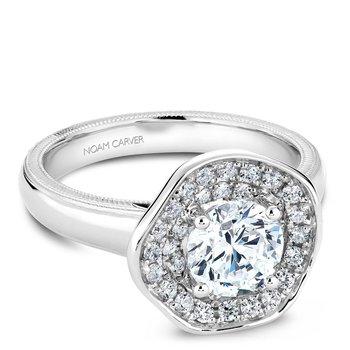 Noam Carver Floral Engagement Ring B014-03A
