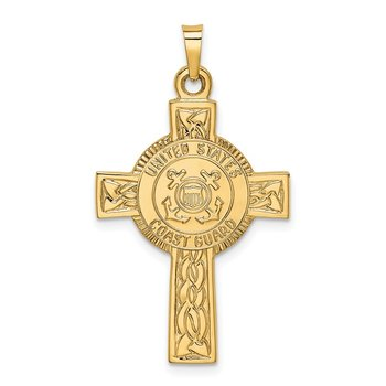 14k Cross w/Coast Guard Insignia Pendant