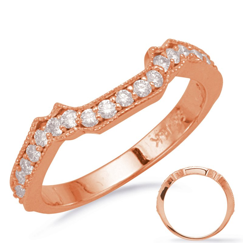 S. Kashi & Sons Bridal Rose Gold Matching Wedding Band