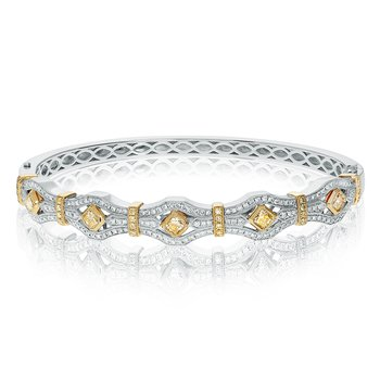 Two Tone Diamond Bangle