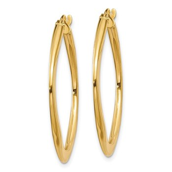14k Tapered Square Hoop Earrings