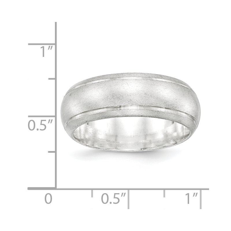 Quality Gold Sterling Silver 8mm Satin Finish Band
