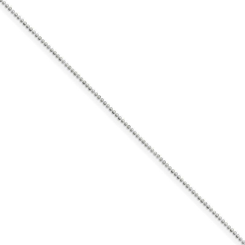 Quality Gold Sterling Silver 1mm Beaded Chain Anklet