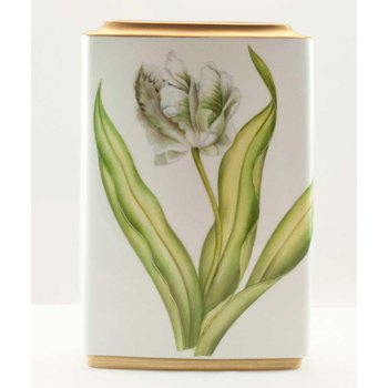 White Tulips Square Vase