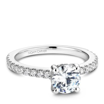 Noam Carver Modern Engagement Ring B087-01A