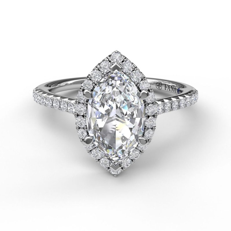 Fana Marquise Diamond With Halo Engagement Ring