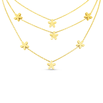 18KT GOLD Y FIORE PRINCESS COLLAR