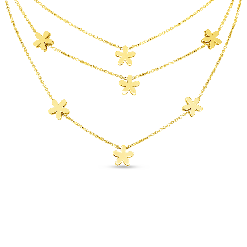 Roberto Coin 18Kt Gold Y Fiore Princess Collar