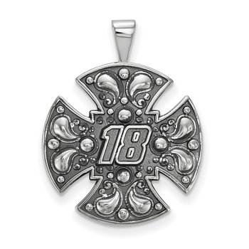 Sterling Silver 18 Kyle Busch NASCAR Pendant
