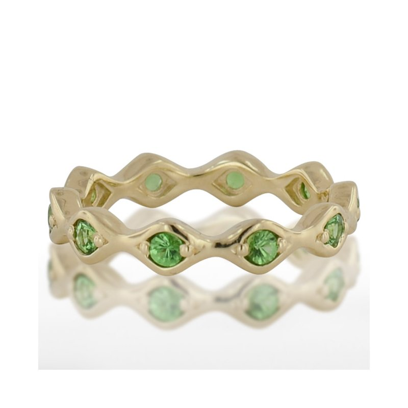 Novell Ladies' Green Gold Tzavorite Ring