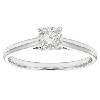 14KW 1/2 CTW ROUND DIAMOND SOLITAIRE