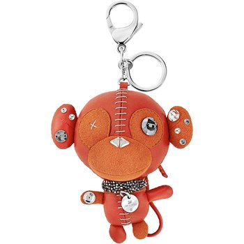 Ernest Bag Charm, Orange, Stainless steel