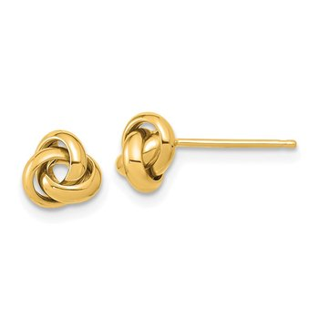 14K Polished Love Knot Post Earrings