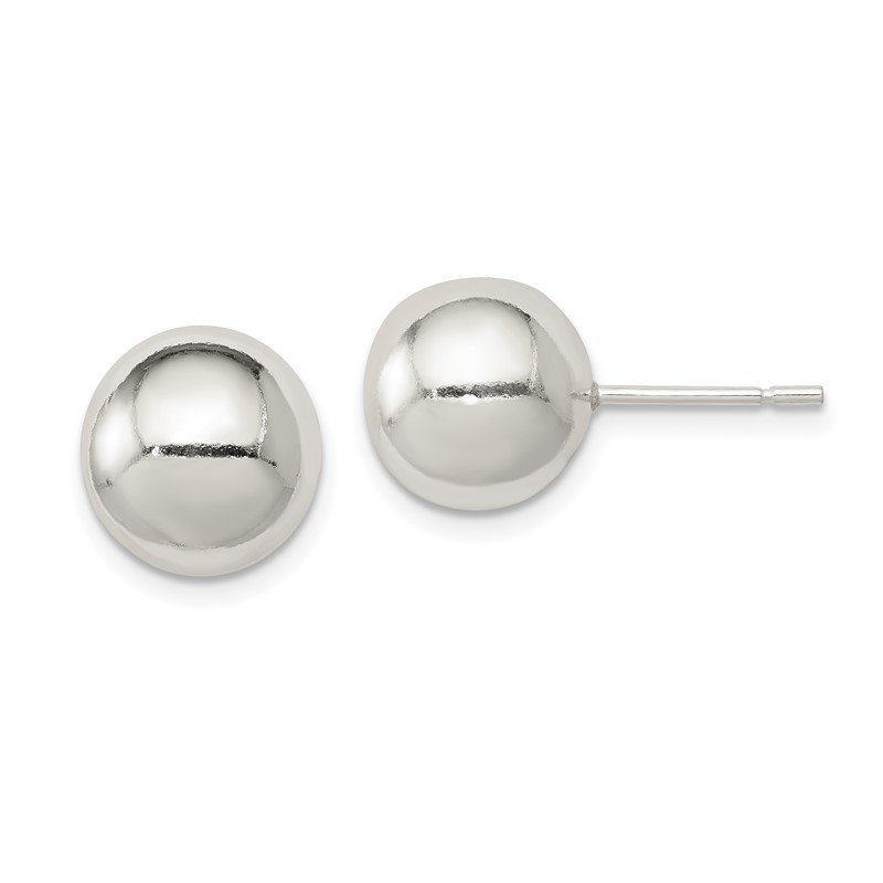 Quality Gold Sterling Silver Polished 10mm Ball Earrings