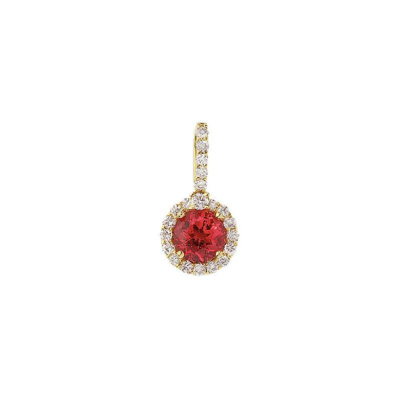 Chatham Padparadscha Pendant-CP2024YPD