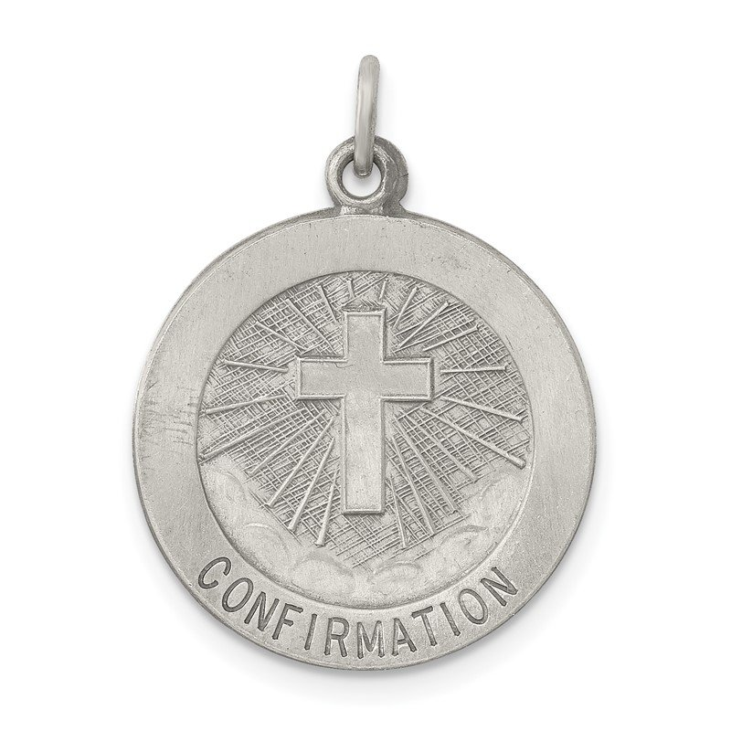 Quality Gold Sterling Silver Antiqued Confirmation Medal