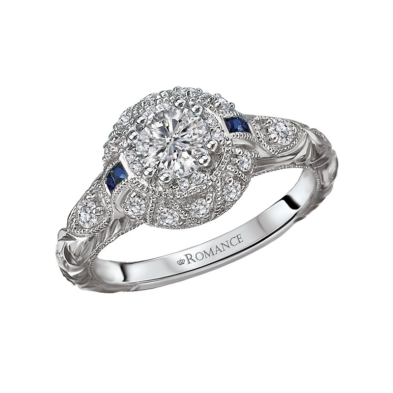Romance Vintage Semi-Mount Diamond Ring