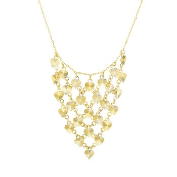 14K Gold  Bib Necklace