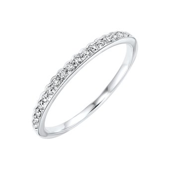 Diamond ¼ Eternity Asymmetrical Stackable Band in 10k White Gold