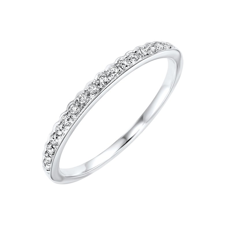 Gems One Diamond ¼ Eternity Asymmetrical Stackable Band in 10k White Gold