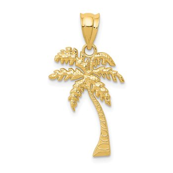 14k Mini Palm Tree Pendant