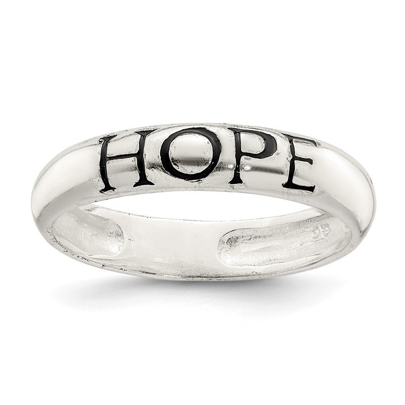 Quality Gold Sterling Silver Antiqued & Polished Hope Ring
